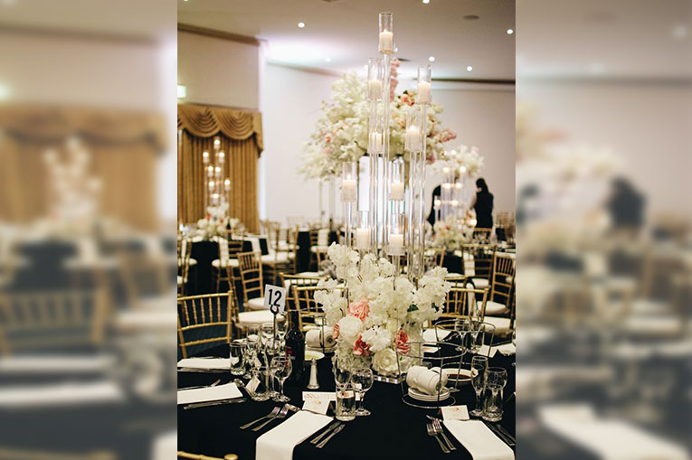 rini and deep's wedding flower decor